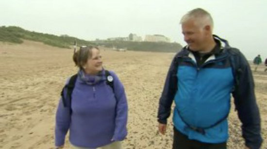 Guided Tours Wales: Derek Brockway on a walk with me for Weatherman Walking BBC Wales
