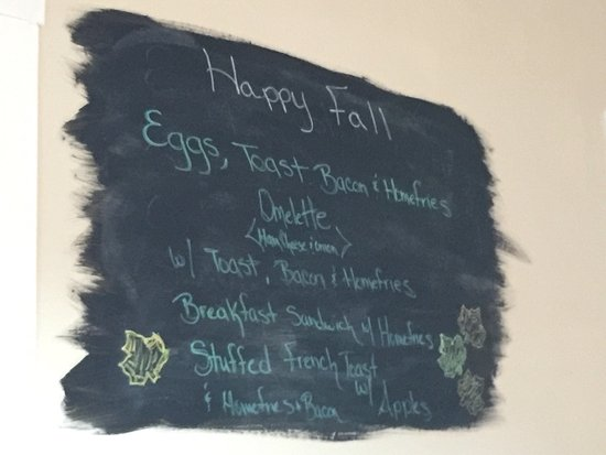 Campton, NH: Breakfast menu