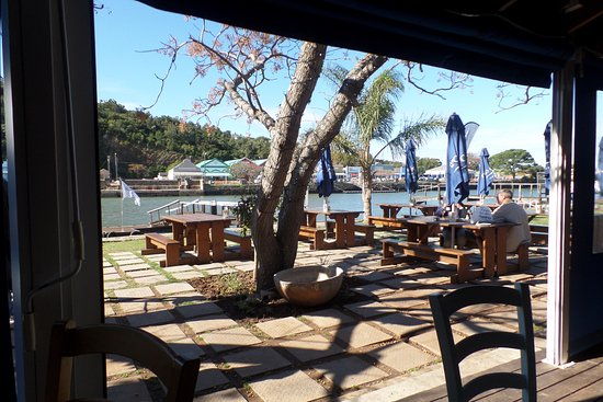 Ocean Basket Restaurant on the banks of the Kowie River