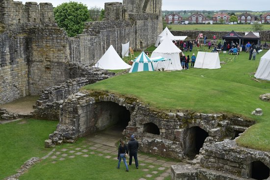 Reenactors added some fun to the visit to Warkworth Castle.