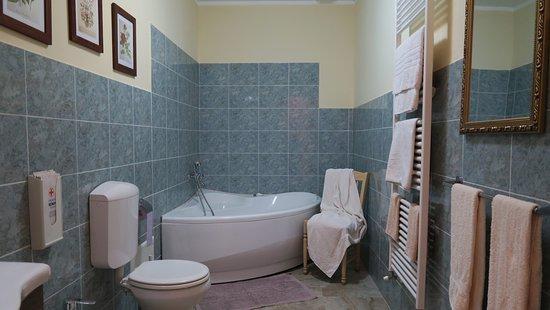 Domus Langhe B&B: L'ampio bagno della piccola suite