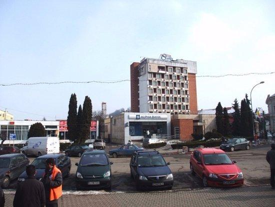 Dej, Romania: Hotel Front