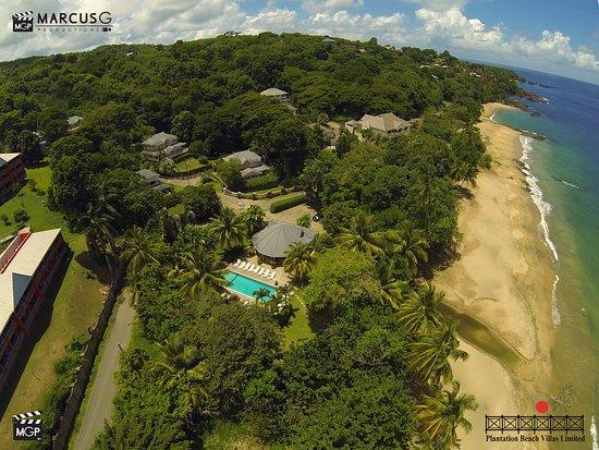 Plantation Beach Villas: An overhead shot of the property