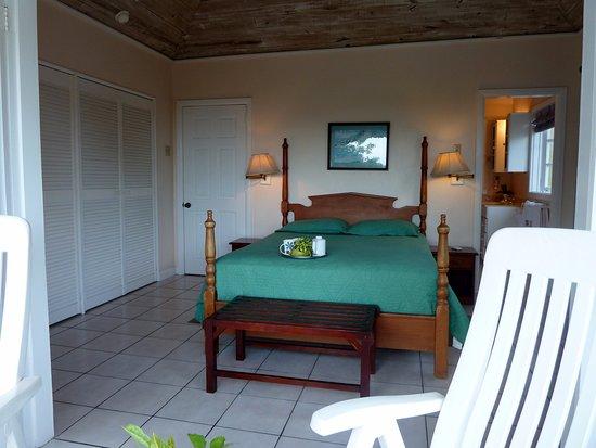 Plantation Beach Villas: Upstairs Bedroom from the verandah