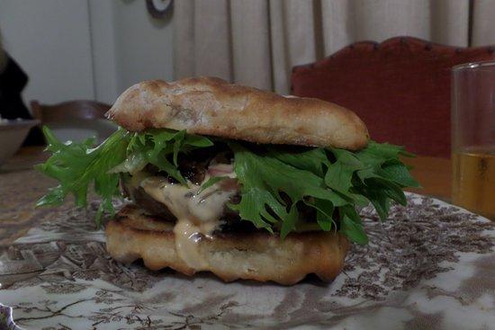 Alexandria, South Africa: Roosterkoek burger - Nanaga Farm Stall roosterkoek ...