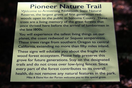Guerneville, Califórnia: The Pioneer Nature Trail