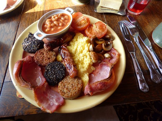 Kilbrittain, Ιρλανδία: Full Irish breakfast at Bridgeview (and that's only the main course)