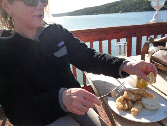 Kenton-on-Sea, Güney Afrika: Lekker calamari!