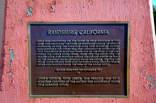 Randsburg City Jail plaque