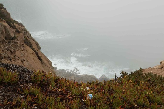 Colares, Portugal: Foggy Atlantic ocean from Cabo Da Roca