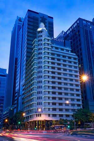 أسكوت رافلز بليس سنجافورة: Facade of Ascott Raffles Place Singapore