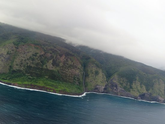 Waikoloa, Hawái: coastline w/waterfalls