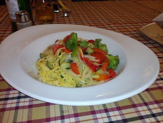 cafe journal pasta with verdura