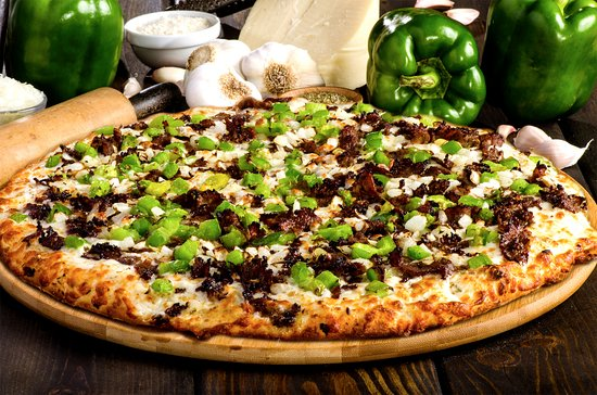 East Lansing, MI: The flavorful Philly Cheesesteak pizza.