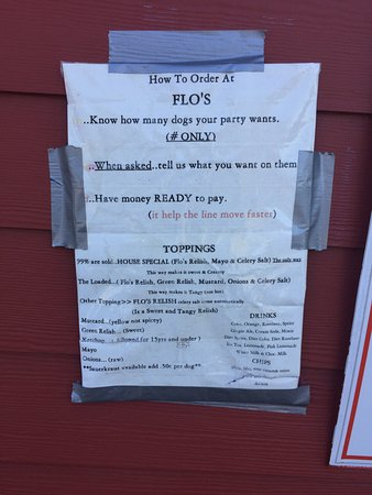 """Cape Neddick, Мэн: The menu and """"how to order"""""""