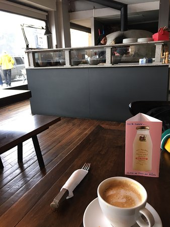 Great pizza and coffee