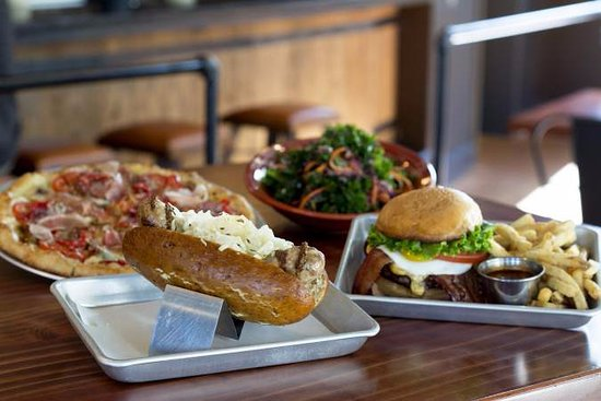 Pizza, sausages, salads, burgers at Beardslee, Bothell, WA