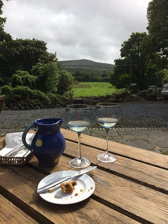 Burren Fine Wine and Food: The View from outside patio