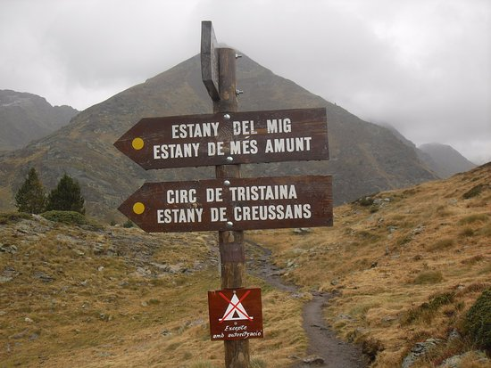 Arinsal, Andorra: cuando ves ésta señal ya has llegado, todo es fácil, prácticamente llano.