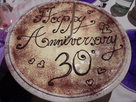 Villa Le Torri: Tiramisu made for our 30th wedding anniversary