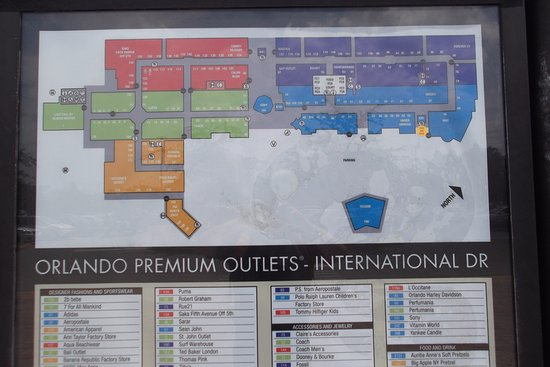 mapa do outlet Picture of Orlando International Premium Outlets