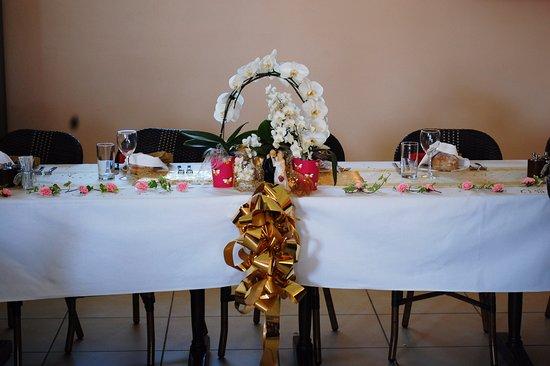 repas 50 ans de mariage d un coupe de client de Brasserie