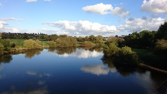 Ross-on-Wye, UK: View from the nearby bridge