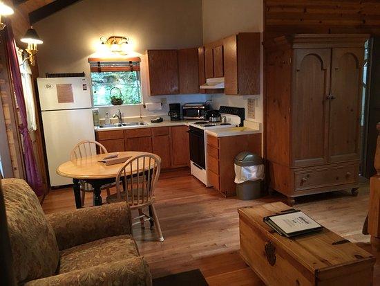 Eastsound, واشنطن: Interior of Stargazer Cottage