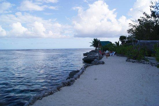 Moorea, Polynésie française : bord de motu espace détente