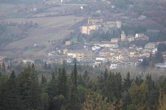 Castrocaro Terme e Terra del Sole, Italie : Aerial view