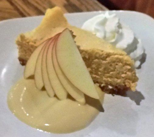 Dorset, VT: Pumpkin Cheesecake w/ apple cider crème anglaise.