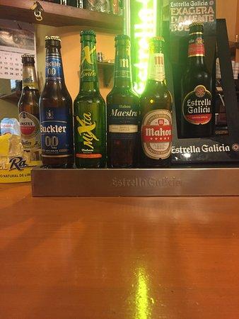 Benissa, Spain: Vaya cervecitas mas buenas!