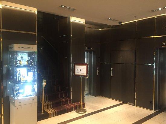 Grand Hotel Europa: Elevator and lobby