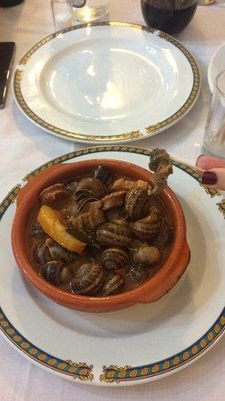 Illescas, Ισπανία: Caracoles de menu