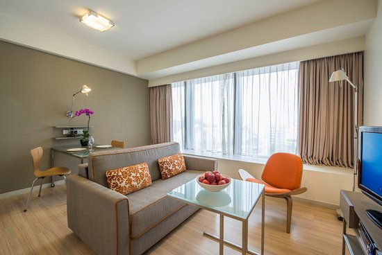 Citadines Mount Sophia Singapore Living Room Of 2 Bedroom Executive Apartment