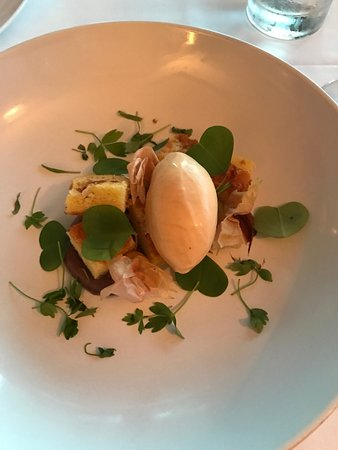 Depoe Bay, OR: Almond cake with fennel ice cream with 70% cacao puree