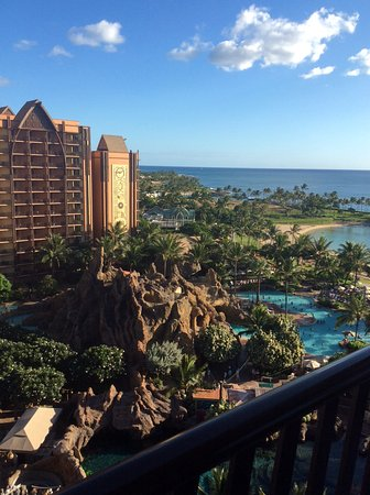 Aulani, a Disney Resort & Spa: The view from our room.