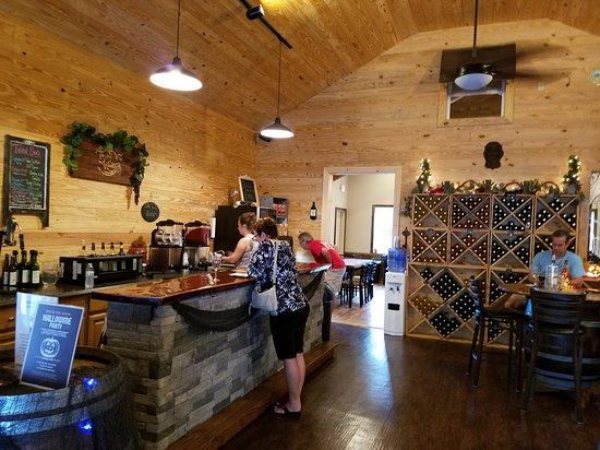 Lenoir, NC: Such a great find! A small, family owned winery.  Tastefully decorated. So relaxing to sit on th