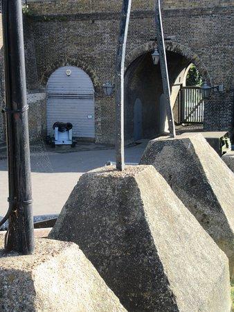 Chatham, UK: old entrance gate and defences