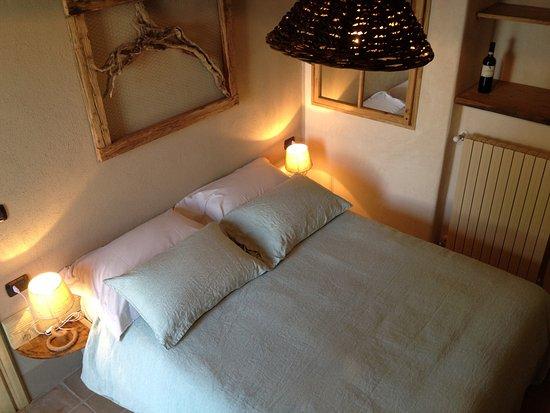 Vignale Monferrato, Italie : La camera Il Nido vista dal nido di rondini