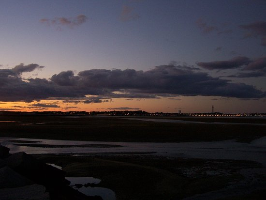Sunset at Long Point, looking back at Provincetown