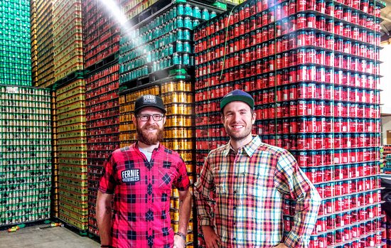 Fernie, Καναδάς: Our staff love beer and plaid.