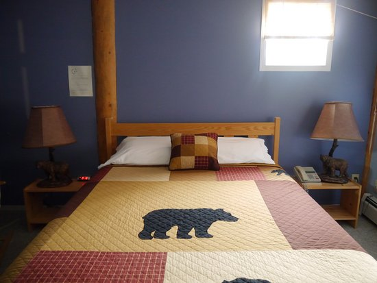 Dease Lake, Canada: Lodge rooms offer different motif and decor in each!