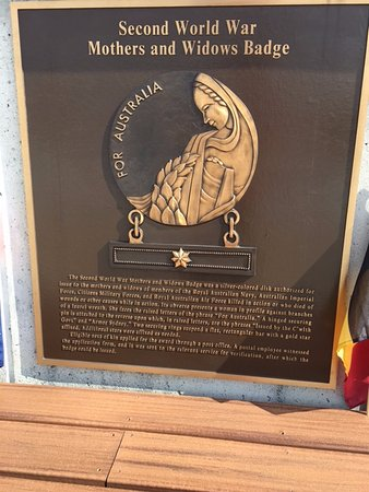 Bedford, VA: Australian Mothers and Widows Badge