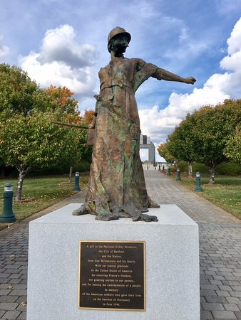 Bedford, VA: Sculpture Presented to the US From France in Gratitude