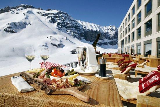 Melchsee-Frutt, Швейцария: Sun terrace