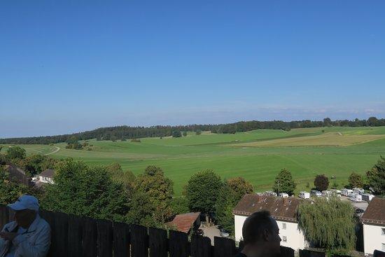 Andechs, Deutschland: The hills, viewed from the Biergarten