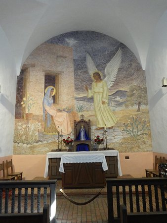 Goliad, TX: The altar of the church inside the presidio that has been in continuous service since 1700's.