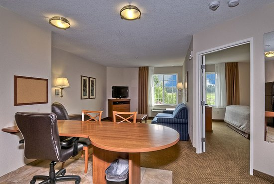 Candlewood Suites Burlington: One-bedroom suite with King bed and pull-out couch