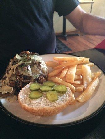 Delta, CO: German Hamburger at Opa's....yum!!